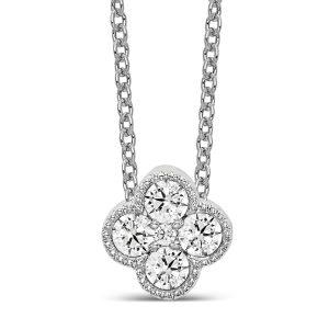 Diamond Bloom Pendant Necklace