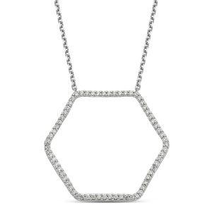 Hexagon Pendant Necklace