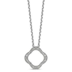 Quatrefoil Floral Necklace