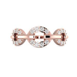 Rose Gold Circlet Diamond Ring