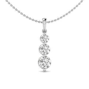 1ct Diamond Drop Pendant