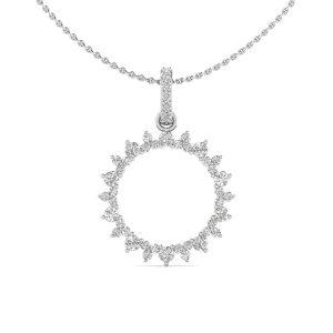 Diamond Sunflower Pendant