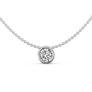 Bezel Solitaire Diamond Pendant