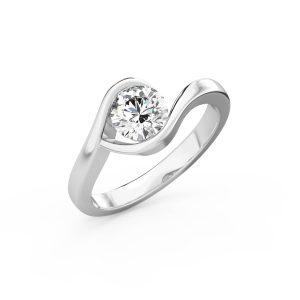 white gold hover ring